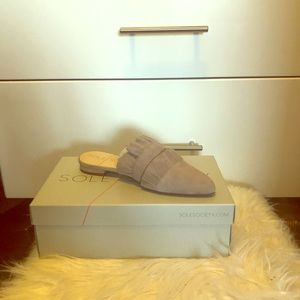 Sole Society Gray Mule